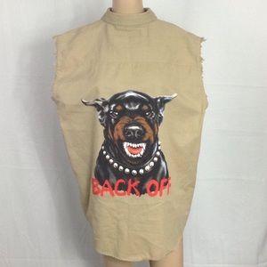 Led Zeppelin & Bad Arse Dog Muscle Shirt Medium